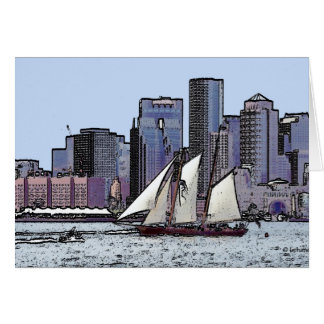 Schooner Sails from Boston, Card