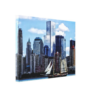 Schooner Seen From Liberty State Park Canvas Print