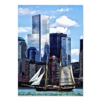 Schooner Seen From Liberty State Park Card