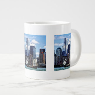 Schooner Seen From Liberty State Park Giant Coffee Mug