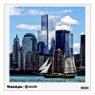 Schooner Seen From Liberty State Park Wall Decal