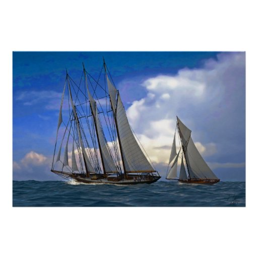 schooner y yate póster
