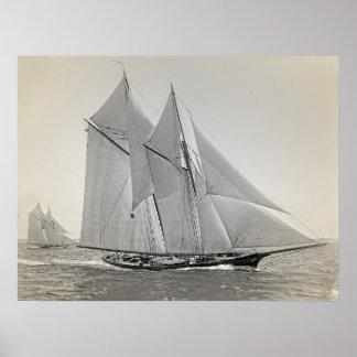 Schooner Yacht Fortuna Poster