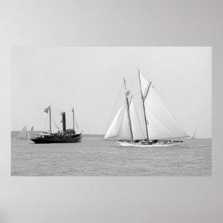 """Schooner Yacht """"Indra"""" Poster"""