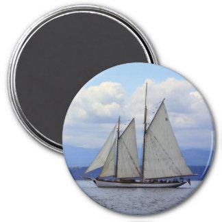 Schooner Zodiac 3 Inch Round Magnet