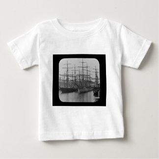 Schooners in Port Magic Lantern Slide B&W T-shirt