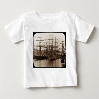 Schooners in Port Magic Lantern Slide Baby T-Shirt