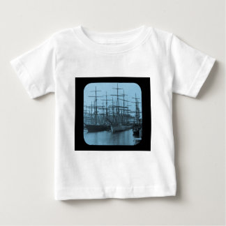 Schooners in Port Magic Lantern Slide Cyan Infant T-shirt