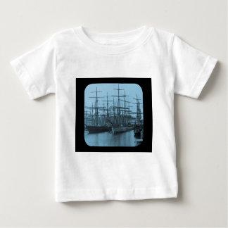 Schooners in Port Magic Lantern Slide Cyan Tshirt
