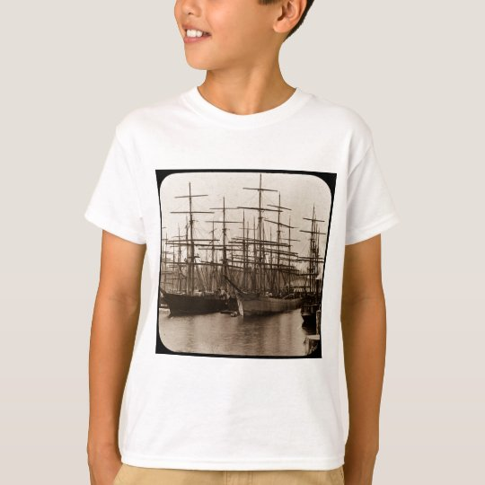 Schooners in Port Magic Lantern Slide T-Shirt