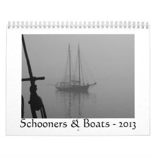 Schooners y barcos - 2013 calendarios de pared