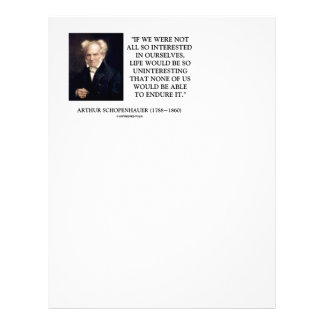 Schopenhauer All So Interested In Ourselves Personalized Letterhead
