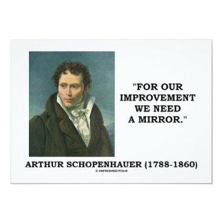 Schopenhauer para nuestra necesidad de la mejora invitaciones personales