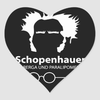 Schopenhauer Parerga Confidence ED. Heart Sticker