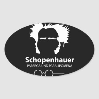 Schopenhauer Parerga Confidence ED. Oval Sticker
