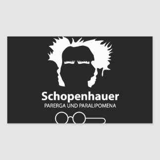 Schopenhauer Parerga Confidence ED. Rectangular Sticker