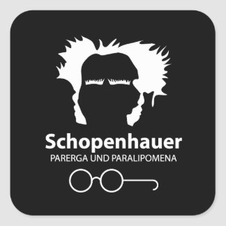Schopenhauer Parerga Confidence ED. Square Sticker