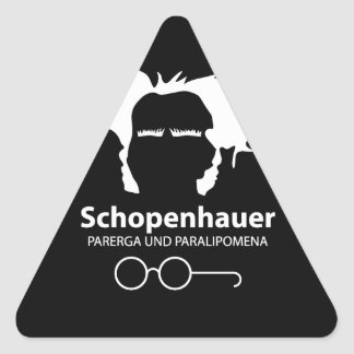 Schopenhauer Parerga Confidence ED. Triangle Sticker