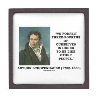 Schopenhauer perdemos tres cuartos nosotros mismos caja de joyas de calidad