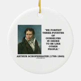 Schopenhauer perdemos tres cuartos nosotros mismos ornato