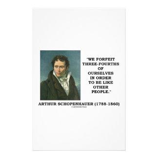 Schopenhauer perdemos tres cuartos nosotros mismos papelería