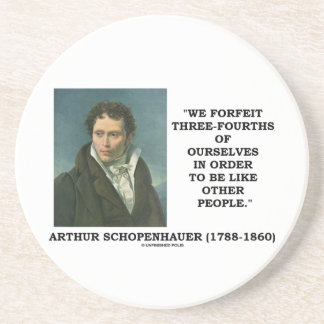 Schopenhauer perdemos tres cuartos nosotros mismos posavasos diseño