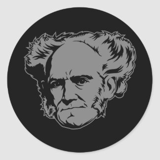 Schopenhauer Portrait Classic Round Sticker