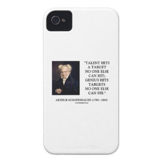 Schopenhauer Talent Genius Hits Targets No One See Case-Mate iPhone 4 Cases