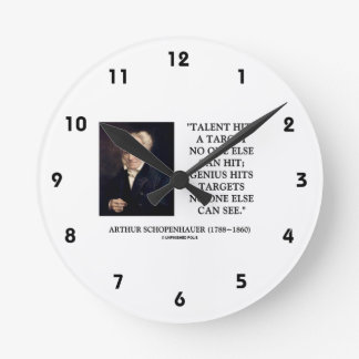Schopenhauer Talent Genius Hits Targets No One See Clock