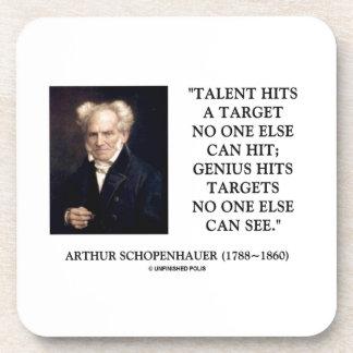 Schopenhauer Talent Genius Hits Targets No One See Coaster