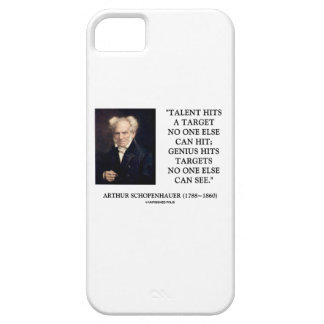 Schopenhauer Talent Genius Hits Targets No One See iPhone SE/5/5s Case