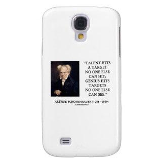 Schopenhauer Talent Hits Target Genius No One Else Samsung Galaxy S4 Case