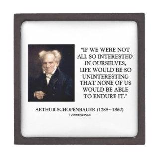 Schopenhauer todo el tan interesado en nosotros mi cajas de recuerdo de calidad