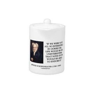 Schopenhauer todo el tan interesado en nosotros mi