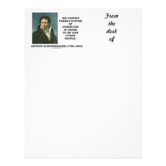 Schopenhauer We Forfeit Three-Fourths Ourselves Letterhead