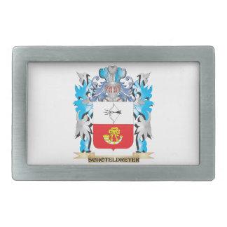 Schoteldreyer Coat of Arms - Family Crest Rectangular Belt Buckles