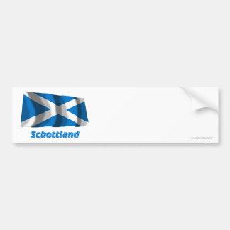 Schottland Fliegende Kreuzflagge mit Namen Bumper Sticker