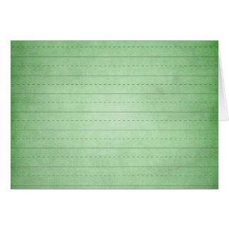 SCHPPR GREEN SCHOOL LINED PAPER EDUCATION BACKGROU CARD