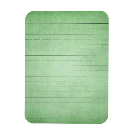 SCHPPR GREEN SCHOOL LINED PAPER EDUCATION BACKGROU MAGNET