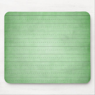 SCHPPR GREEN SCHOOL LINED PAPER EDUCATION BACKGROU MOUSE PAD