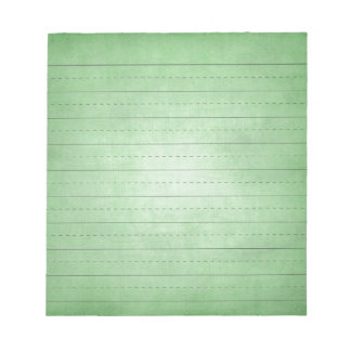 SCHPPR GREEN SCHOOL LINED PAPER EDUCATION BACKGROU NOTE PAD