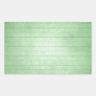 SCHPPR GREEN SCHOOL LINED PAPER EDUCATION BACKGROU RECTANGULAR STICKER