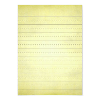 SCHPPR light YELLOW SCHOOL LINED PAPER EDUCATION B Card