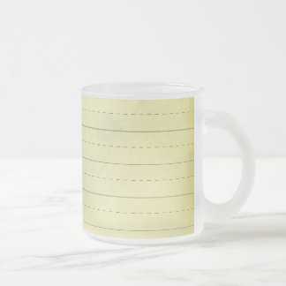 SCHPPR light YELLOW SCHOOL LINED PAPER EDUCATION B Frosted Glass Coffee Mug