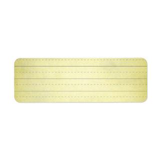 SCHPPR light YELLOW SCHOOL LINED PAPER EDUCATION B Label