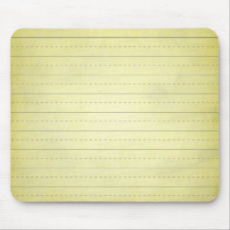 SCHPPR light YELLOW SCHOOL LINED PAPER EDUCATION B Mouse Pad