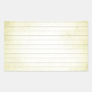 SCHPPR light YELLOW SCHOOL LINED PAPER EDUCATION B Rectangular Sticker