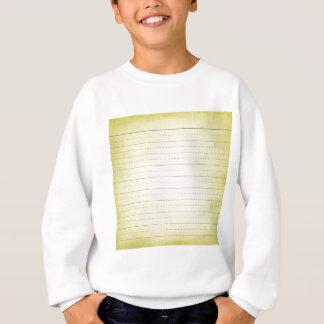 SCHPPR light YELLOW SCHOOL LINED PAPER EDUCATION B Sweatshirt