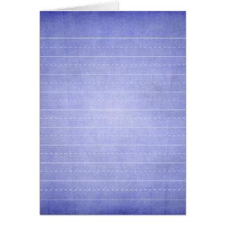 SCHPPR OCEAN BLUE RULED SCHOOL LINED PAPER EDUCATI CARD
