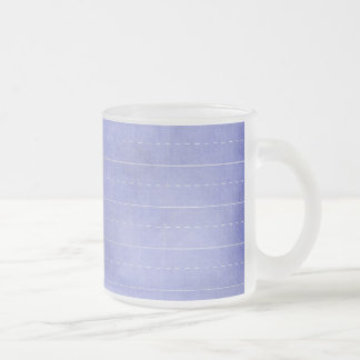 SCHPPR OCEAN BLUE RULED SCHOOL LINED PAPER EDUCATI FROSTED GLASS COFFEE MUG